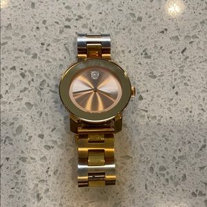 Movado bold rose gold watch